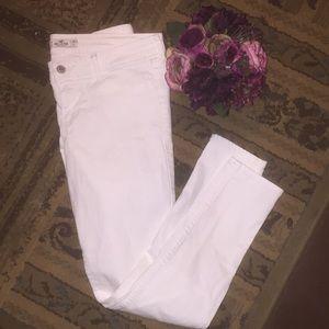 Stretchy white Hollister jeans skinny